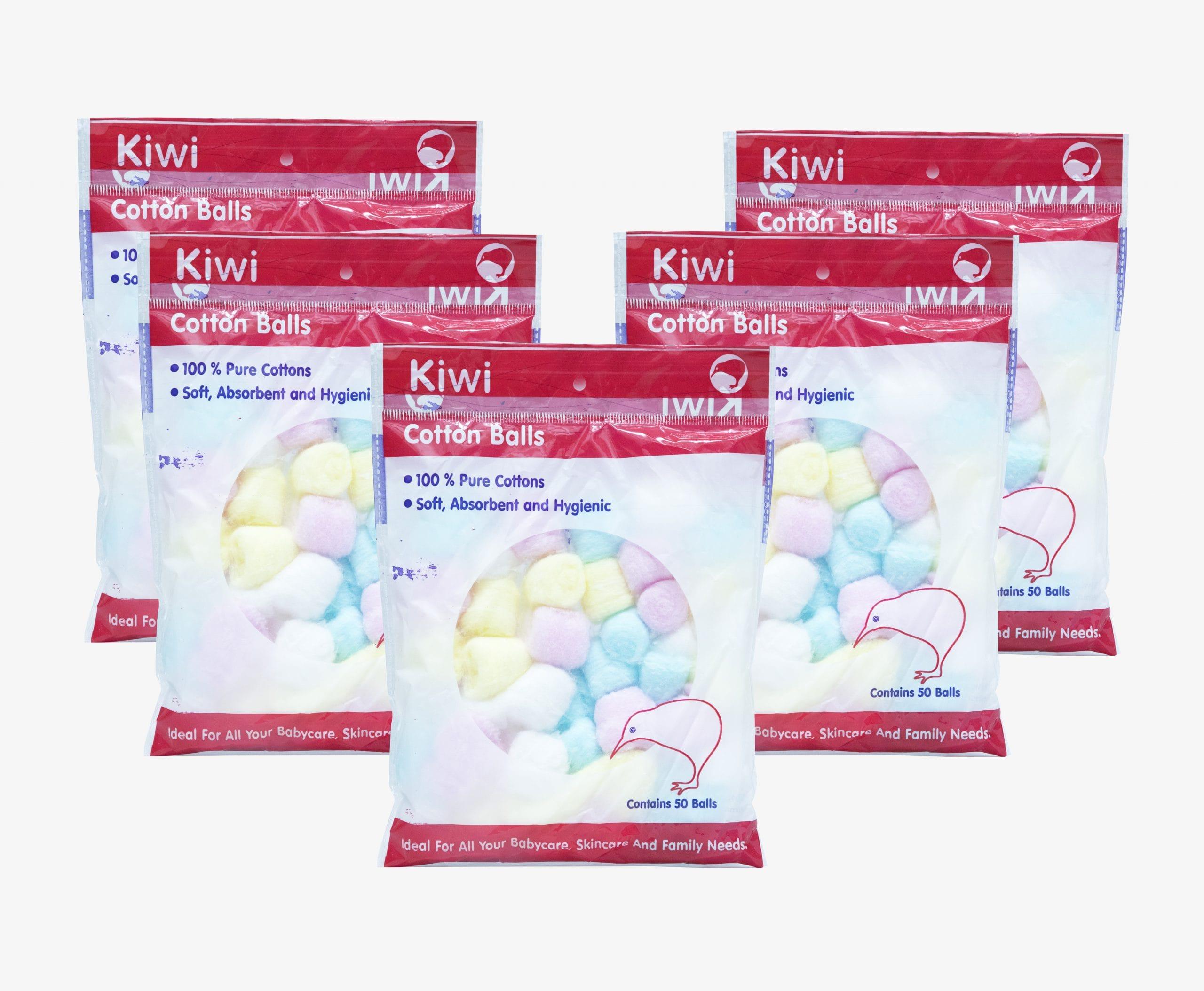 Kiwi Multicolor Cotton Balls (Pack of 5x50)