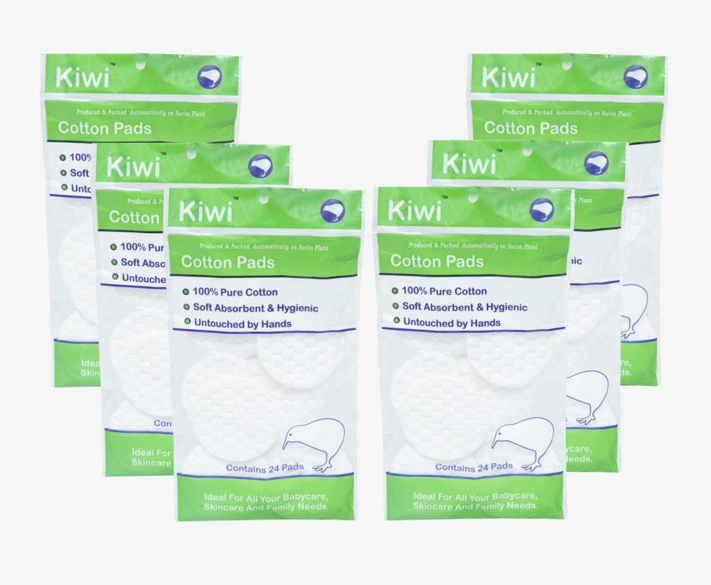 Kiwi Cotton Pads (Pack of 6x24))