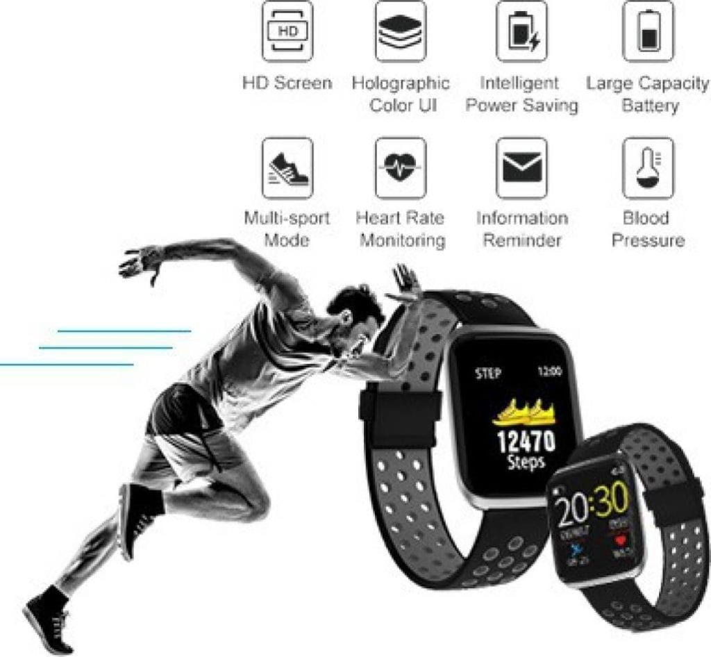 Pebble Impulse Smartwatch (Black, Smart watch with Oxymeter and HR monitoring)